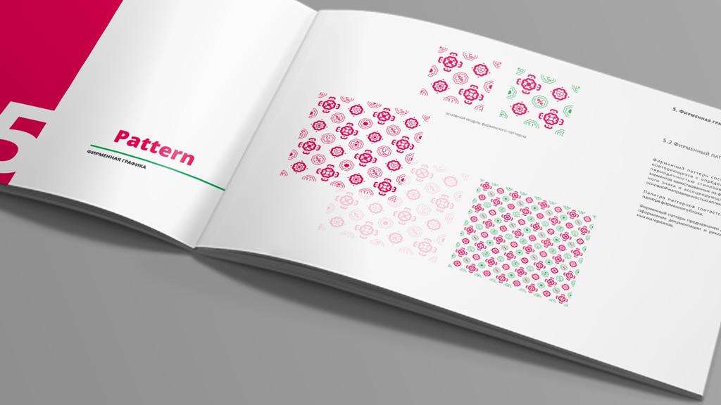 Брендбук для аптеки МАЛИНА. Фирменная графика © KENGURU