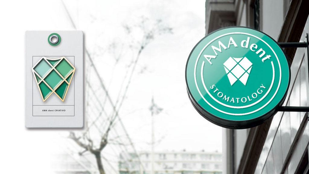 Разработка концепции вывески для стоматологии AMA dent