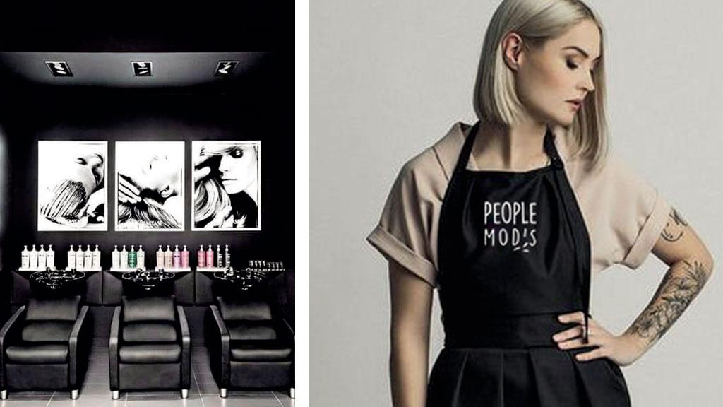 People Mod's cloth logo branding