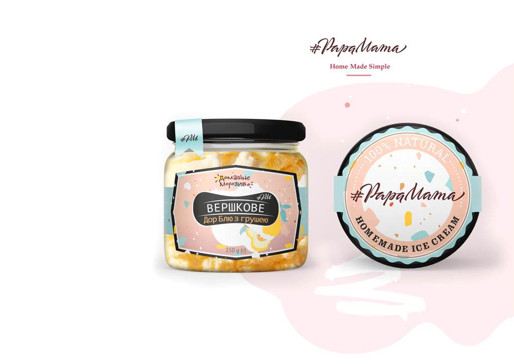 Создание этикетки для мороженого #PapaMama © Креативное агентство KENGURU