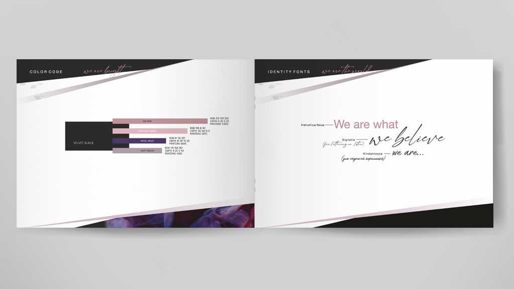 Agoista brand colors brandbook creation