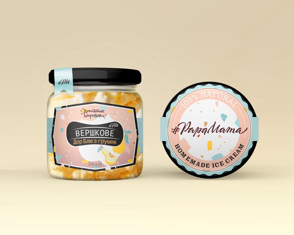 PapaMama ice cream label concept
